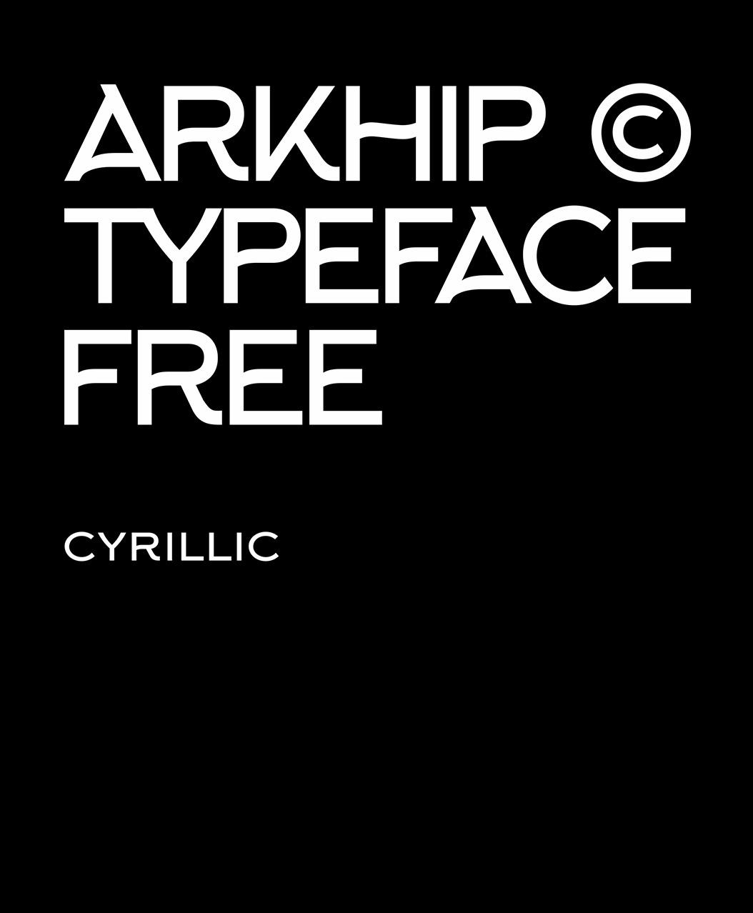 Arkhip Typeface